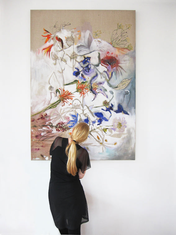 Beauty-of-Transience-series-no-01-Lies-Goemans-140x200cm-floral-painting-interior