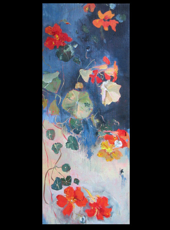 Botanical-Story-series-East-Indian-Cherry-Lies-Goemans-20x50cm-flower-painting-floral-flower-bloemschilderij-artwork