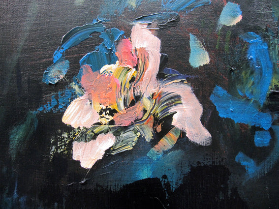 dark-nature-up-close-heaven-scent-Lies-Goemans-painting-flower-schilderij-floral-100x100cm-detail