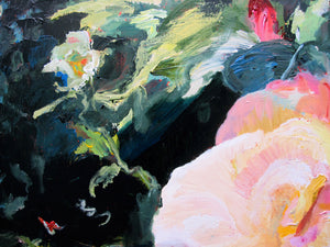 dark-nature-up-close-heaven-scent-Lies-Goemans-painting-flower-schilderij-floral-100x100cm-detail-2