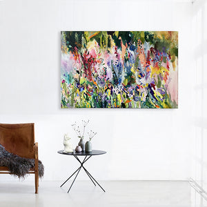 FloralPoetry-Lavish-gloves-for-fox-and-fairies-Lies-Goemans-painting-flower-schilderij-floral-150x100cm-interior-1