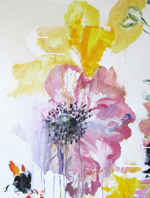FloralPoetry-crying-for-jackie-Lies-Goemans-painting-flower-schilderij-floral-140x200cm-detail 1