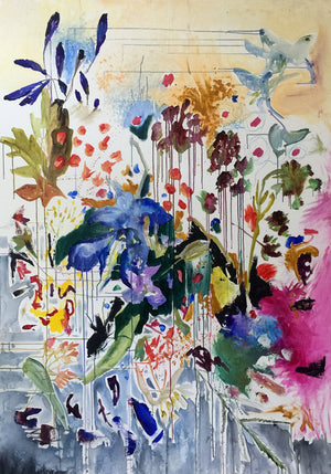 FloralPoetry-fun-of-being-colour-Lies-Goemans-painting-flower-schilderij-floral-150x100cm-basis