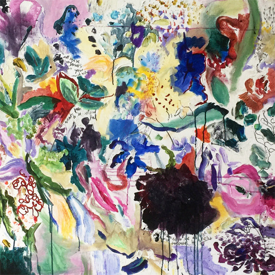 FloralPoetry-fun-of-being-colour-Lies-Goemans-painting-flower-schilderij-floral-150x100cm-basis-square