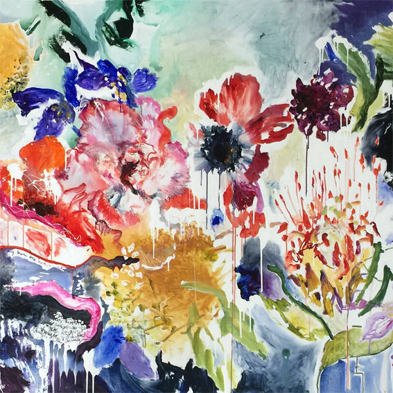 FloralPoetry-songs-from-the-heart-Lies-Goemans-painting-flower-schilderij-floral-140x200cm-basis-square