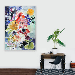 FloralPoetry-songs-from-the-heart-Lies-Goemans-painting-flower-schilderij-floral-140x200cm-interior-impression-3
