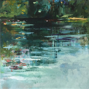 Misty-Water-Lies-Goemans-waterscape-painting-20x20cm