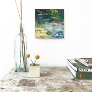 Paradiso-Lies-Goemans-waterscape-painting-20x20cm-interior