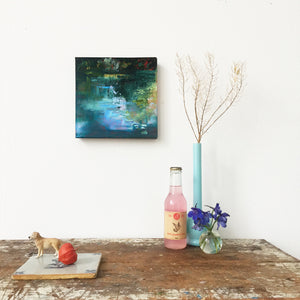 Shimmering Light-Lies Goemans-waterscape-painting 20x20cm-interior 2