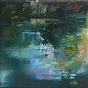 Shimmering Light-Lies Goemans-waterscape-painting 20x20cm