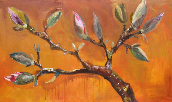 series-Early-Bloom-Tree-Of-Life-Lies-Goemans-painting-floral-schilderij-200x120cm-basis