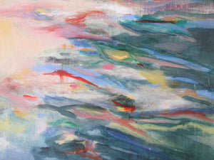series Waterstories-monumental-Stillness-Lies-Goemans-waterscape-painting-150x150cm-detail