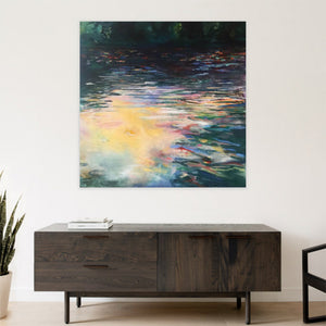 Waterstories-monumental-Stillness-Lies-Goemans-waterscape-painting-150x150cm-interior-impression