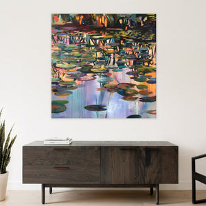 Waterstories-monumental-Underlying-Serenity-Lies-Goemans-waterscape-painting-150x150cm-interior-2