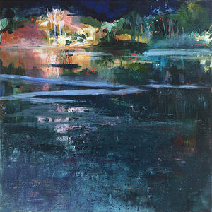 Waterstories-whispers-party-on-the-other-side-Lies-Goemans-waterscape-painting-40x40cm-basis