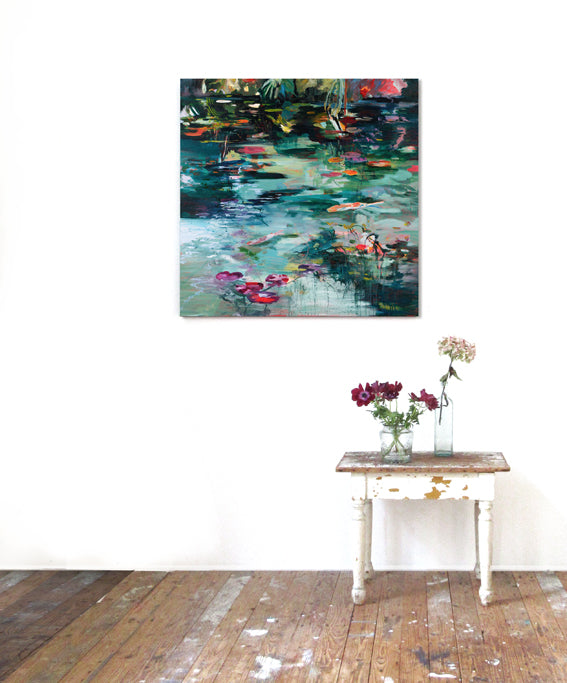 What-Lies-Beneath-1-Lies-Goemans-painting-water-waterscape-100x100cm-interiorstyling