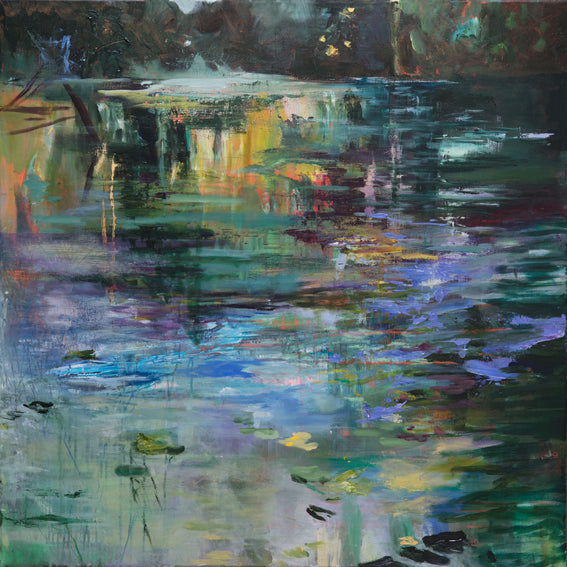 What-Lies-Beneath-13-Lies-Goemans-painting-water-schilderij-waterscape-100x100cm-basis