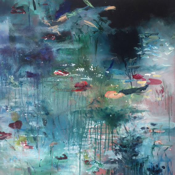 What-Lies-Beneath-14-Lies-Goemans-painting-water-schilderij-waterscape-100x100cm-basis