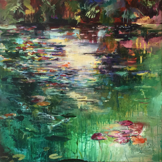 What-Lies-Beneath-15-Lies-Goemans-painting-water-schilderij-waterscape-100x100cm-basis