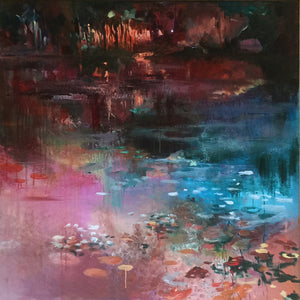 What-Lies-Beneath-17-Lies-Goemans-painting-water-schilderij-waterscape-100x100cm-basis