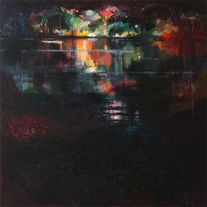 What-Lies-Beneath-19-Lies-Goemans-painting-water-schilderij-waterscape-100x100cm-basis