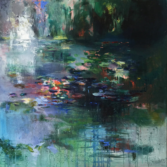 What-Lies-Beneath-20-Lies-Goemans-painting-water-schilderij-waterscape-100x100cm-basis