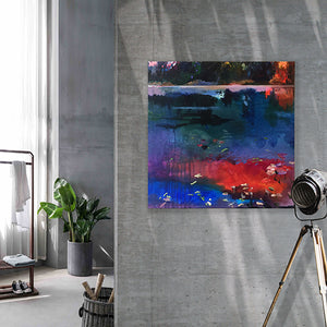 What-Lies-Beneath-21-Lies-Goemans-painting-water-schilderij-waterscape-100x100cm-interior-impression-2