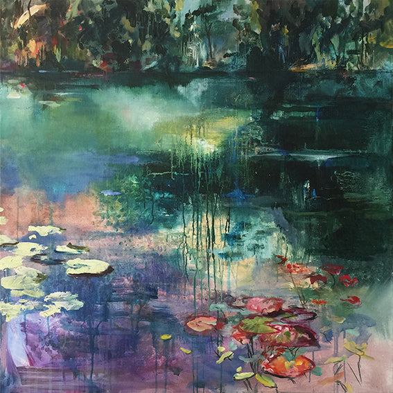 What-Lies-Beneath-22-Lies-Goemans-painting-water-schilderij-waterscape-100x100cm-basis-square