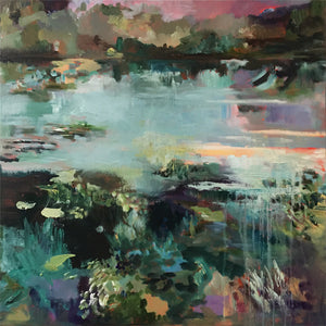 What-Lies-Beneath-23-Lies-Goemans-painting-water-schilderij-waterscape-100x100cm-basis
