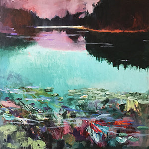 What-Lies-Beneath-24-Lies-Goemans-painting-water-schilderij-waterscape-100x100cm-basis-square