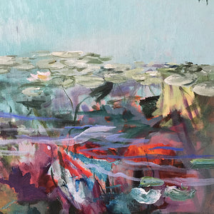 What-Lies-Beneath-24-Lies-Goemans-painting-water-schilderij-waterscape-100x100cm-detail-3