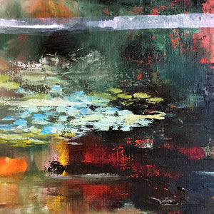 What-Lies-Beneath-27-Lies-Goemans-painting-water-schilderij-waterscape-100x100cm-detail-2