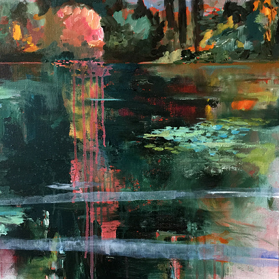 What-Lies-Beneath-27-Lies-Goemans-painting-water-schilderij-waterscape-100x100cm-detail 4