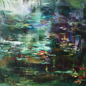 What-Lies-Beneath-30-Lies-Goemans-painting-water-schilderij-waterscape-100x100cm-basis
