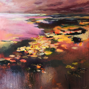 What-Lies-Beneath-32-Lies-Goemans-painting-water-schilderij-waterscape-100x100cm-square