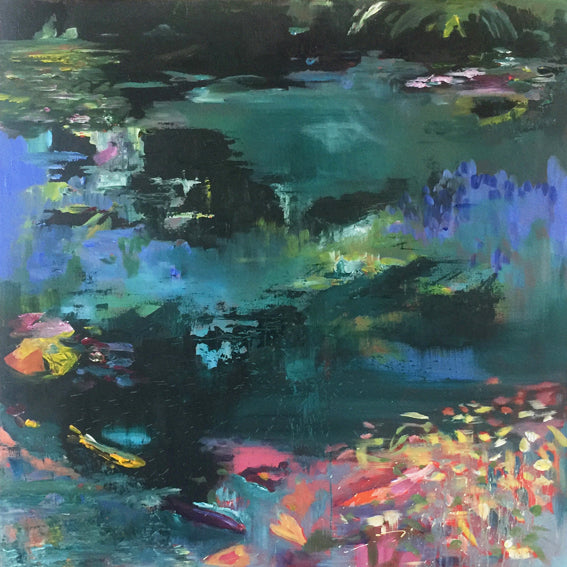 What-Lies-Beneath-4-Lies-Goemans-painting-water-waterscape-100x100cm