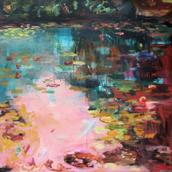 What-Lies-Beneath-5-Lies-Goemans-painting-water-schilderij-waterscape-100x100cm