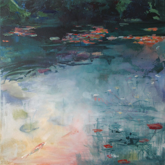 What-Lies-Beneath-6-Lies-Goemans-painting-water-schilderij-waterscape-100x100cm-basis