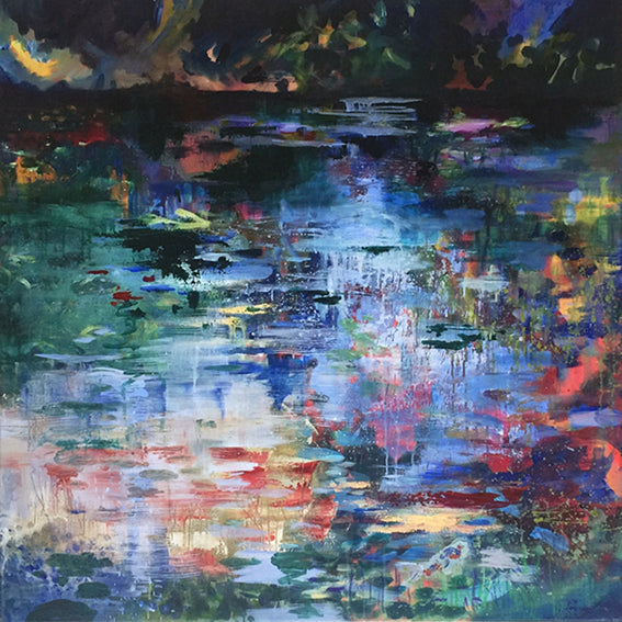 What-Lies-Beneath-8-Lies-Goemans-painting-water-schilderij-waterscape-100x100cm-basis