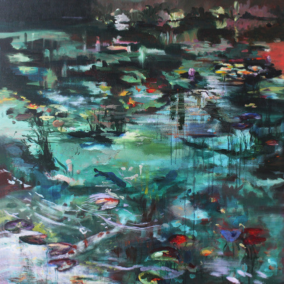 What-Lies-Beneath-II-Lies-Goemans-painting-water-100x100cm