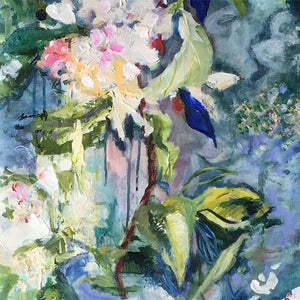 branch-up-blue-blossoms-Lies-Goemans-painting-flower-schilderij-floral-40x110cm-basis-square