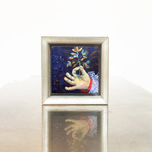 lies-goemans-miniature-painting-holding-value-no.430-in-frame