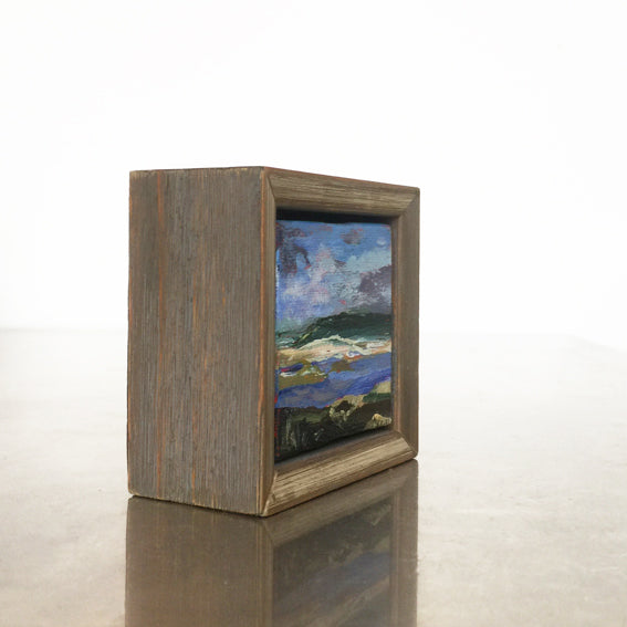 lies-goemans-miniature-paintings-woodframe-mauve-silverborder-filled-standing-side