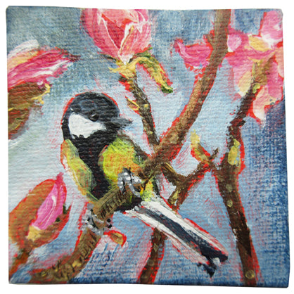 no.1084-lies-goemans-miniature-painting-TomTit-With-Magnolia's