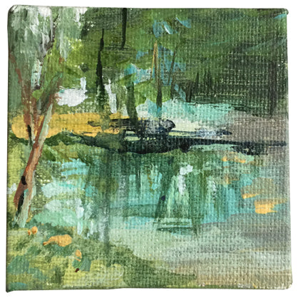 no.1104-lies-goemans-miniature-painting-mirroring-trees