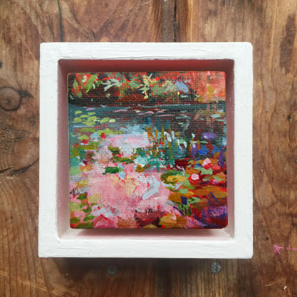 no.1106-lies-goemans-miniature-painting-pink-stream-in-frame
