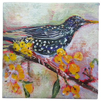 no.1108-lies-goemans-miniature-painting-yellow-berry-starling