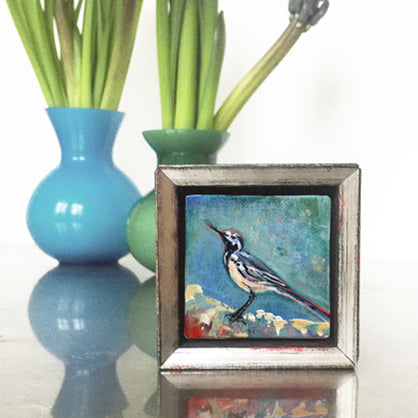 no.1111-lies-goemans-miniature-painting-white-wagtail-interior
