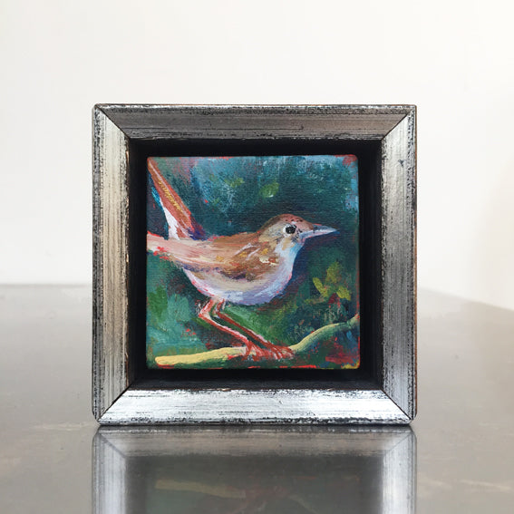 no.1116-lies-goemans-miniature-painting-young-nightingale-frame