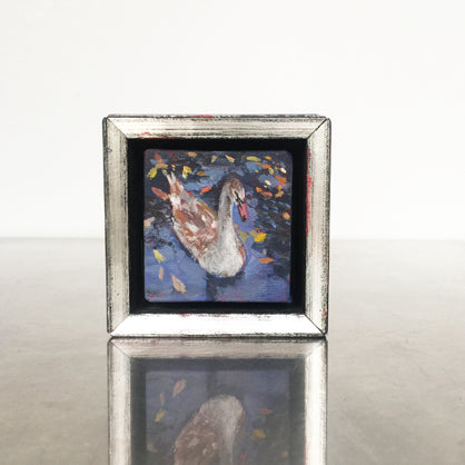 lies-goemans-miniature-painting-fledgling-swan-no.771-frame